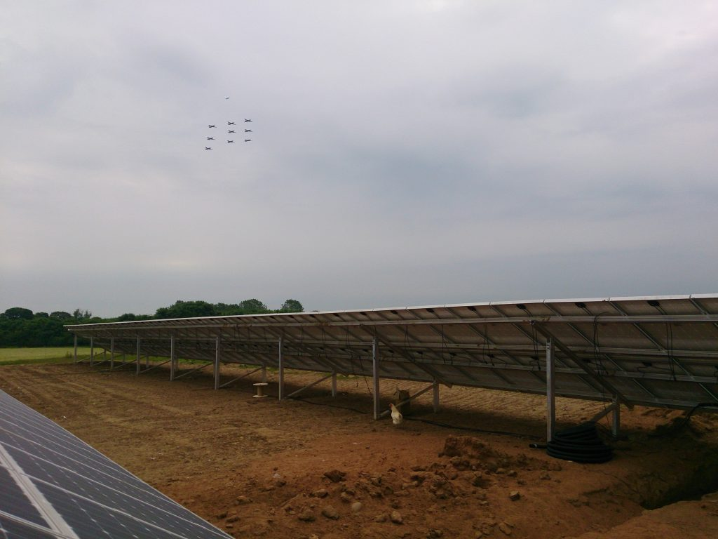 RAF Tucano Display over Chicken Farm