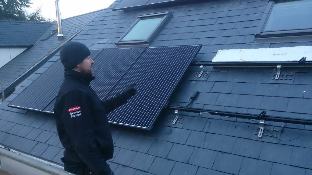 On roof residential system using Slate Plates
